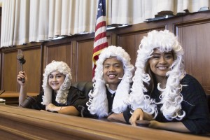 Law Program students participate in a mock trial